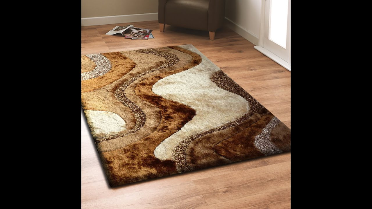 Brown Shag Rug With Beige Living Room Area By Addiction