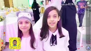 النجمتين فاطمة وفاء مع عمو أحمد الصباغ