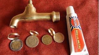 Como Hacer un anillo  de un Caño  o pileta de agua - Golden ring