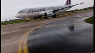 QATAR AIRWAYS MULTAN INTERNATIONAL AIRPORT WATER SALUTE