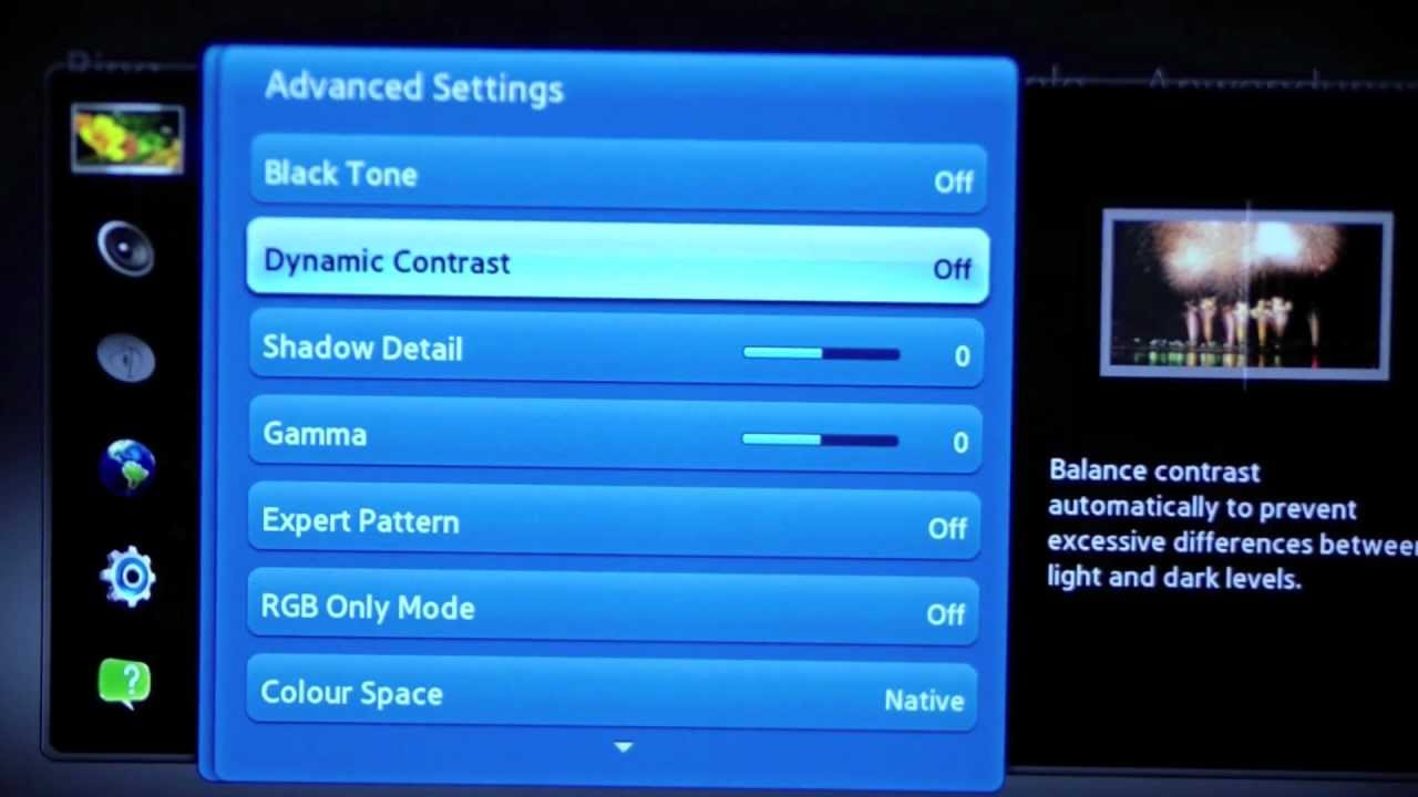 Samsung LED TV Gaming Settings - Best Picture Settings Xbox 360 / PS3