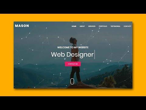 Mason - Personal Portfolio HTML Template | Bootstrap Portfolio Website