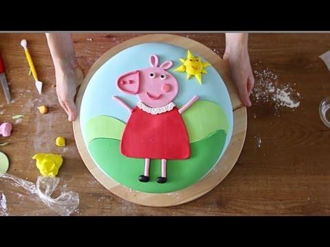 Peppa Pig Come Decorare Una Torta Di Compleanno Con La Pasta Di
