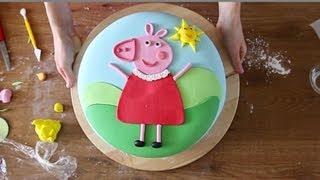 PEPPA PIG: come decorare una torta di compleanno con la pasta di zucchero