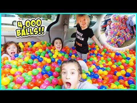 WE TURNED OUR MINIVAN INTO A BALL PIT!! / SmellyBellyTV