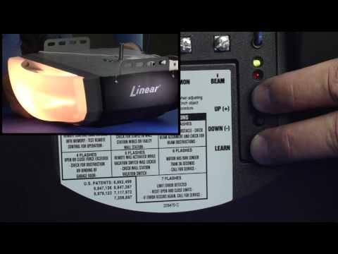 Reset Linear Garage Door Opener