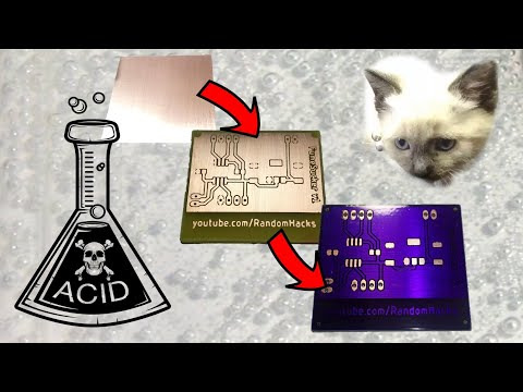 How to make a PCB with solder mask at home (muriatic acid + hydrogen peroxide, dry film method)