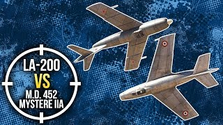 War Thunder: La-200 vs M.D. 452  Mystere IIA
