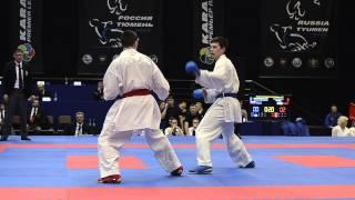Horuna Stanislav (UKR) - Abdrakhmanov Egor (RUS). SEMIFINAL. Karate1. Tyumen, April 2013