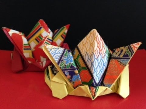 ハート 折り紙:折り紙かぶと上級折り方-miidasu.com