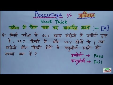 Math short trick || Percentage (प्रतिशत) in Hindi Part – 1 || Railway Group D,UP POLICE,RAILWAY TC
