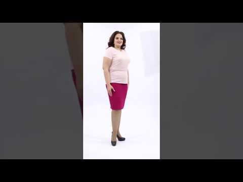 Базовая модель  Блуза розового цвета