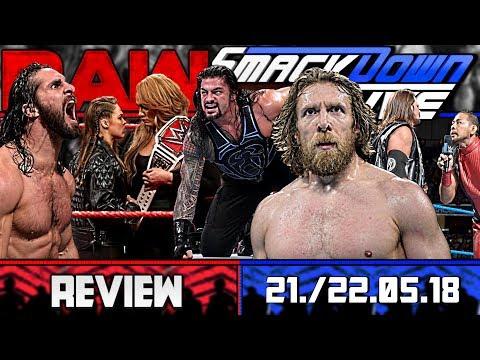 WWE RAW vs. SmackDown Review - EINGESTAMPFT! - 21./22.05.18 (Deutsch/German)