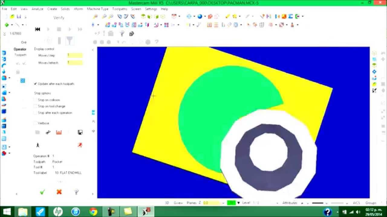 Tutorial Fresadora CNC AutoCAD Mastercam WinUnisoft Fresadora