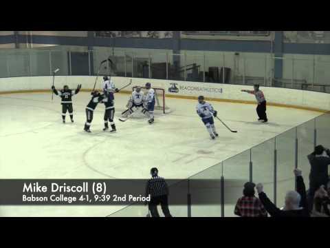 Men's Ice Hockey vs. Babson College Highlights - Feb. 28, 2015