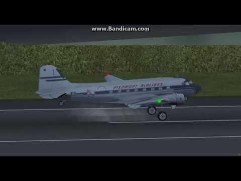 FLIGHTGEAR -Douglas DC3 Landing At Paro / TOWER View(HD & Hi Game Frame Rate)
