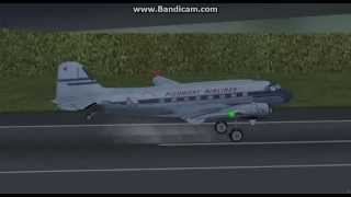 flightgear douglas dc3 landing at paro tower view hd hi game frame rate