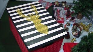 Caixa de Natal com Glitter