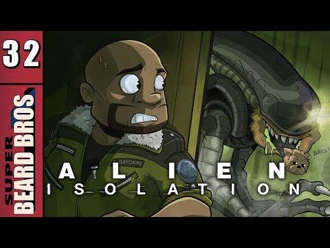 Alien Isolation   Let's Play Ep. 32   Super Beard Bros.