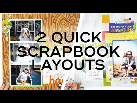 2 Quick And Easy Scrapbook Layouts   Shimelle For American Crafts