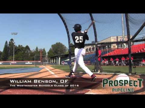 William Benson Prospect Video, OF, The Westminster Schools Class of 2016 @usabaseball
