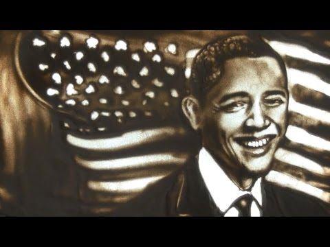 Obama - Lê Phong Giao Sand Art [Official]