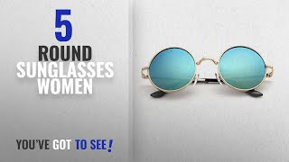 Top 10 Round Sunglasses Women [2018]: Y&S UV Protected Round Unisex Sunglasses (aqua-blue-round)