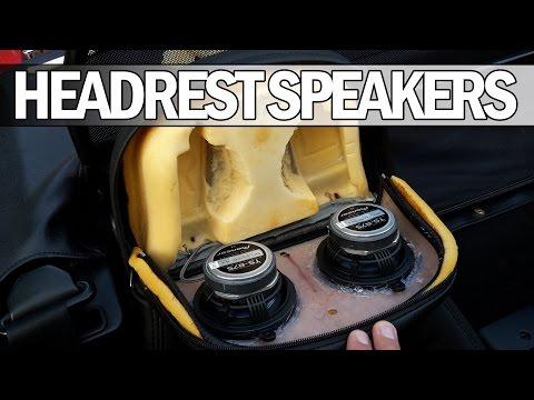 MX5 NA Miata - How to install new headrest speakers