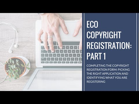 Kiff Says: Completing the eCo Copyright Registration Form - Part 1