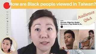 How are Black people viewed in Taiwan? Question from audience   #CheeseOnRice ep002