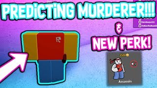 PREDICTING THE MURDERER IN ROBLOX MMX!!! *MOST EXPENSIVE PERK*