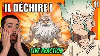 DE L'EMOTIONS ET DE L'HUMOUR ! LIVE REACTION + AVIS #11 Dr STONE