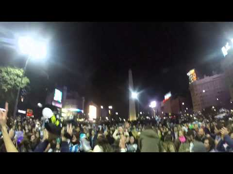 Buenos Aires Celebration of Semifinal Win 2014