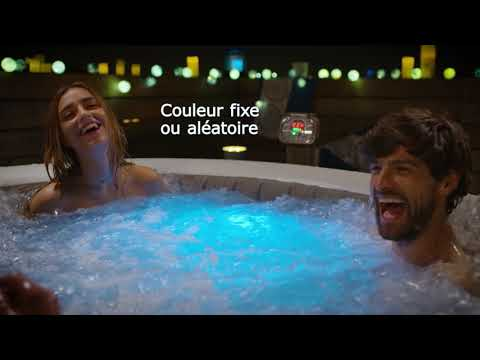Le Spa Lumineux Intex Gifi Youtube