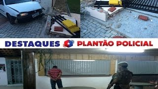 Plantão OCP 20/02/15 (Acidente e assalto em Guaramirim)
