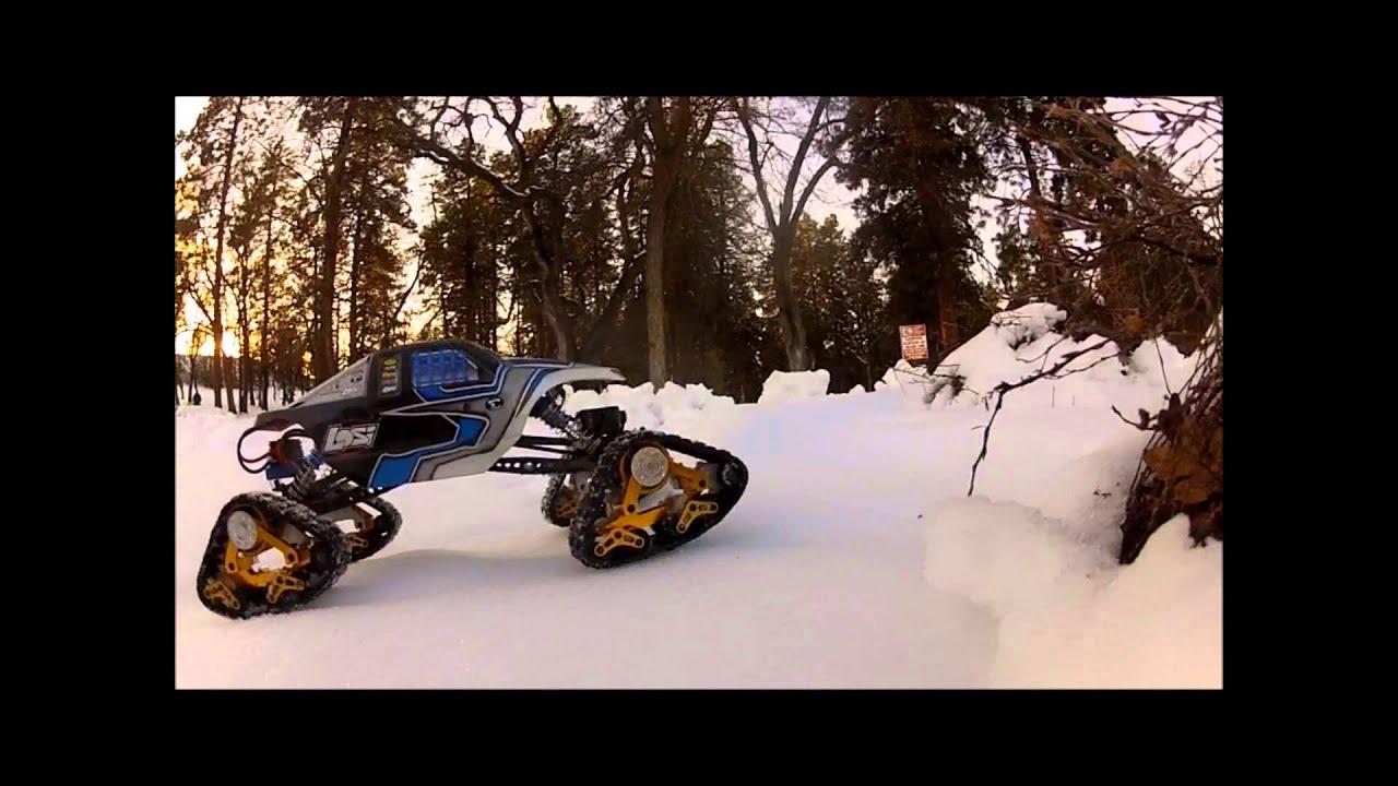 Tracks For Vehicles >> Losi Night Crawler Snow Day (Predator Tracks) - YouTube