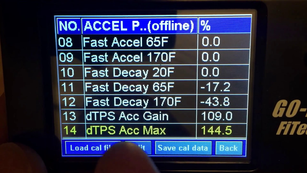FiTech - Accel pump settings