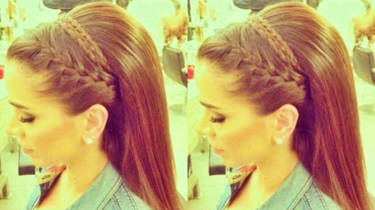 Peinados f ciles con trenzas peinados de fiesta cabello - Peinados fiesta faciles ...
