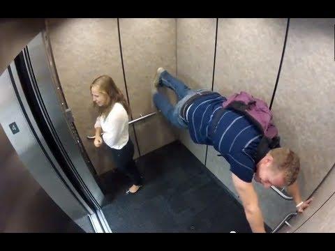 Прикольные неловкие ситуации в лифте