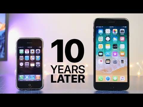 Thumbnail: First iPhone 10 Years Later (iOS 1.0 vs 11.0)