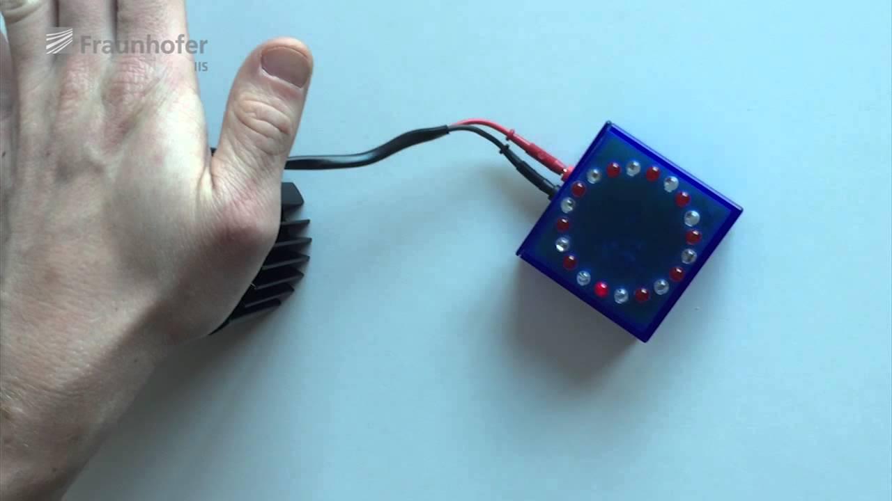 Funktionsweise thermoelektrischer Generator - YouTube