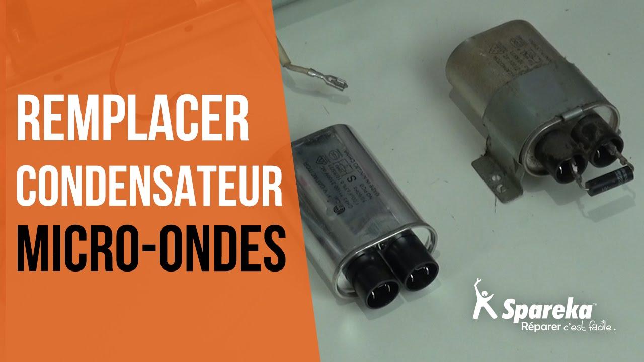 Comment r parer votre four micro ondes remplacer condensateur youtube - Tester condensateur avec ohmmetre ...