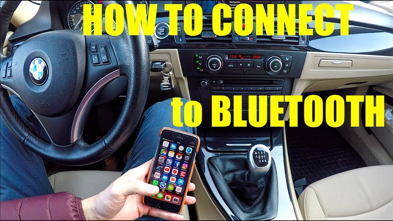 BMW e90 HOW TO connect to bluetooth -For beginners only !