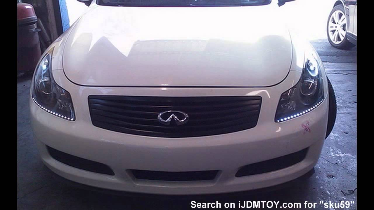 Audi a5 r8 style led strip light on infiniti g35 youtube vanachro Gallery