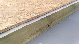 утепление нижнего перекрытия каркасного дома легко и быстро