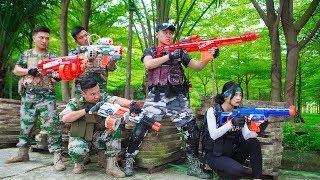LTT Game Nerf War : Winter Warriors SEAL X Nerf Guns Fight Criminal Group Perfect Couple Swat