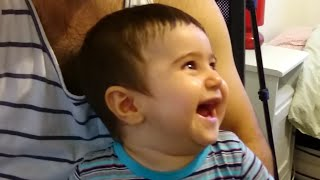 Baby Laughing Hysterically at Ripping Paper by his Mom (Original)