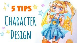 CHARACTER DESIGN || 5 Tips on Creating OCs!