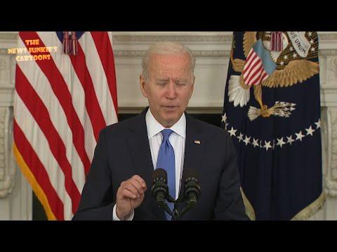 Biden struggles to read teleprompter.