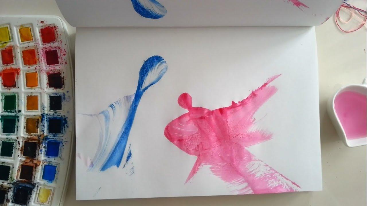 Sulu Boya Ip Baskı Sanatın Renkleri Resim çizme Youtube